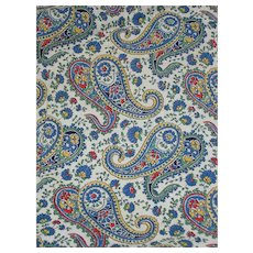 Cotton Quilt Fabric Material Paisley Print