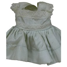 Nancy Ann Muffie Doll Dress Blue with Attached Slip Tagged