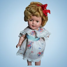 "Ideal Shirley Temple Composition Doll Marked 13"" 1930's"