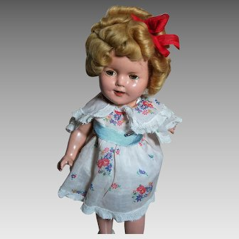 """Ideal Shirley Temple Composition Doll Marked 13"""" 1930's"""