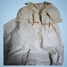 Antique Doll Matching Gown  Jacket & blanket  1800s
