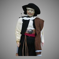 Vintage Cloth Doll  Original Outfit  as a Pirate