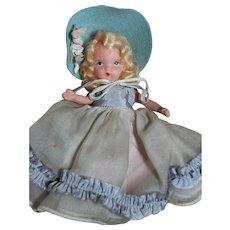 Nancy Ann Bisque Storybook Doll  Sunday's Child 1940's
