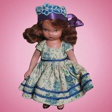 Nancy Ann Bisque  Storybook Doll  Auburn Mohair Wig Family Series