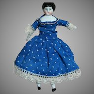 Antique Miniature Dollhouse China Shoulder Head Doll Great Outfit