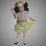 Antique Armand Marseille Flapper Doll Composition Body 6-1/2""