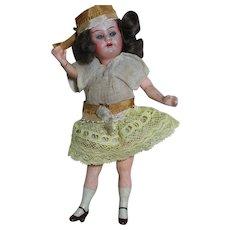 "Antique Armand Marseille Flapper Doll Composition Body 6-1/2"""