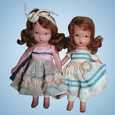 Two Nancy Ann Storybook Dolls All Bisque 1940's