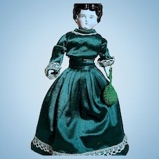 """German China Shoulder Head doll.  Nice outfit 15"""""""