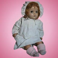 "Vintage Horsman Doll Composition Head Cloth Body 24"""