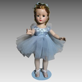 "Madame Alexander Margot  Ballerina in Blue Tulle  14""  Walker 1950s"