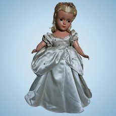 Madame Alexander Hard Plastic Cinderella Doll All Original  1950's