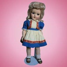 "Ideal Toni Doll P-91  Hard Plastic All Original  16""   1949"