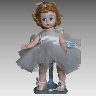 "Madame Alexander-Kin BKW Ballerina Original Tagged  1956   7-1/2"""