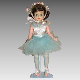 Madame Alexander  Doll  Cissette Original Blue Ballerina Tagged Outfit  1950s
