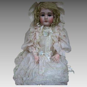 "Large Antique Kestner Doll #195 Kid Rivet Jointed Body 28"""