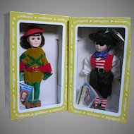 Effanbee Dolls  Captain Kidd & Robin Hood in Original boxes