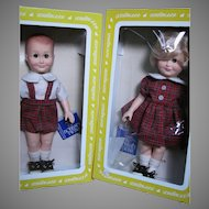 Effanbee Present the Bobbsey Twin Freddie and Flossie in Original box