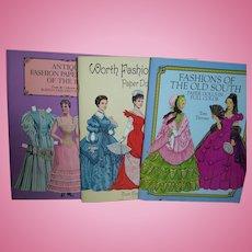 Paper Dolls 3 books Dover Publications  Fashion Paper Dolls Uncut