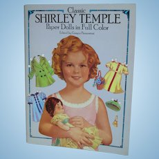 Shirley Temple Uncut Paper Doll in full Color Book Edited by Grayce Piemontesi