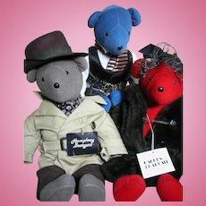 "Three Bears from North American Bear Co  Humphrey Lauren and Rhett 21"""