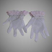 Madame Alexander Elise Doll Pink Gloves  Lace Trim