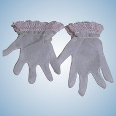 Madame Alexander Elise Doll Pink Gloves  Lace Trim