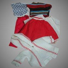 Jean Miller Doll Clothes  Top,  Skirt,  Pants,  Slip, Jacket  & Swim Suit