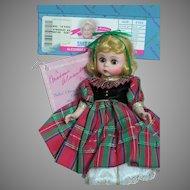 "Madame Alexander Doll Saks Own Christmas Carol  8""  in Box"