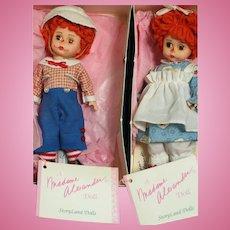 "Madame Alexander Dolls Mop Top Wendy and Billy  MIB  8"""