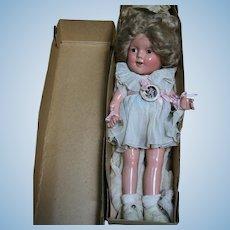 """Ideal Shirley Temple Composition Doll 13"""" Original in Box"""
