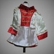 Vintage Terri Lee Majorette Dress  Satin and Red  Gold Trim