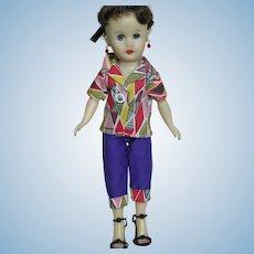 """Circle P Vinyl Fashion  Doll Original Outfit 10"""" Brunette"""