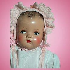 """Vintage ABC Composition Head & Limbs  Baby Doll Flirty Eyes  22""""  1930s"""