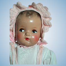 "Vintage ABC Composition Head & Limbs  Baby Doll Flirty Eyes  22""  1930s"