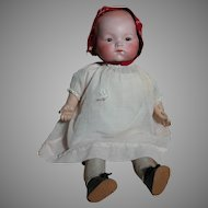 "Armand Marseille  Toddler  Bisque Head  A M Cloth body 18 "" Tall"