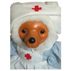 Original Robert Raikes Bear Re Cross Nurse White Fur Margaret has tag 1987