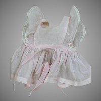 "Original tagged Terri Lee Outfit   Pink Organdy  Pinafore  for 16 "" doll 1950s"