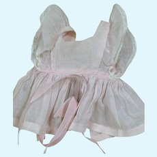 """Original tagged Terri Lee Outfit   Pink Organdy  Pinafore  for 16 """" doll 1950s"""