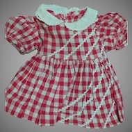 """Vintage Terri Lee Doll Dress Red Check for 16"""" doll  or Other dolls"""