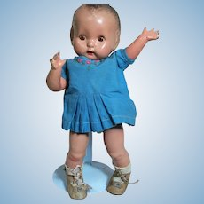 """Horsman Doll Composition Toddler Doll  Jointed 12 """" 1930"""