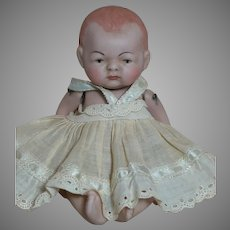 All-Bisque Doll Swivel Neck Jointed Germany Baby Painted Eye