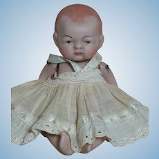 All-Bisque Doll Swivel Neck Jointed Germany Baby Painted Eye 5-1/2 ""