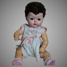 American Character Tiny Tears Doll Rubber Body HP Head  15""