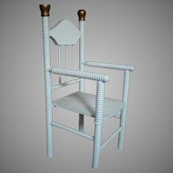 Wood Doll Chair  Great for your Antique Fashion or China Doll Early 1900's
