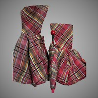 Vintage Umbrella and Two Hooded  Capes Made for Shirley Temple by Molly