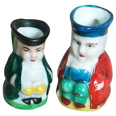 Two Miniature Toby Jugs  one Marked Made in Occupied Japan