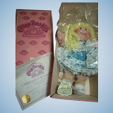 """Vintage Cabbage Patch Porcelain Doll Kellyn Marie  in Original Box She is 16"""""""