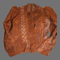 Antique  Ladies Jacket or Top   Rich Brown with Trim  1800's