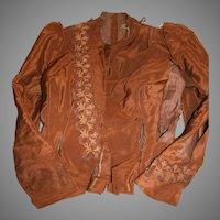 Vintage  Ladies Jacket or Top   Rich Brown with Trim  1800's